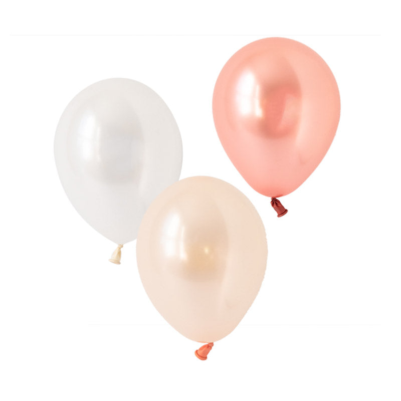 Everything's Rosy Gold Mix Balloons (pack of 12)  Latex Balloon Collections Hello Party Essentials - Hello Party