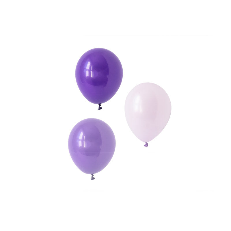 Playful Purples Mini Balloon Mix (pack of 12)  Mini Latex Balloon Collections Hello Party Essentials - Hello Party