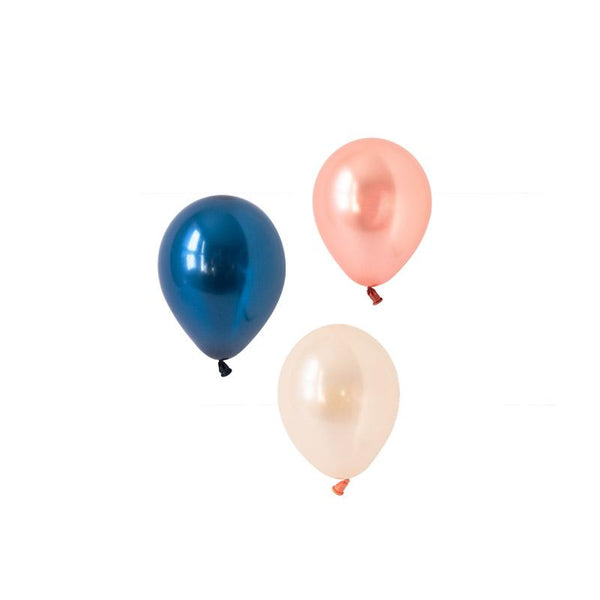 Rose Gold Luxe Mini Balloon Mix (pack of 12)  Mini Latex Balloon Collections Hello Party Essentials - Hello Party