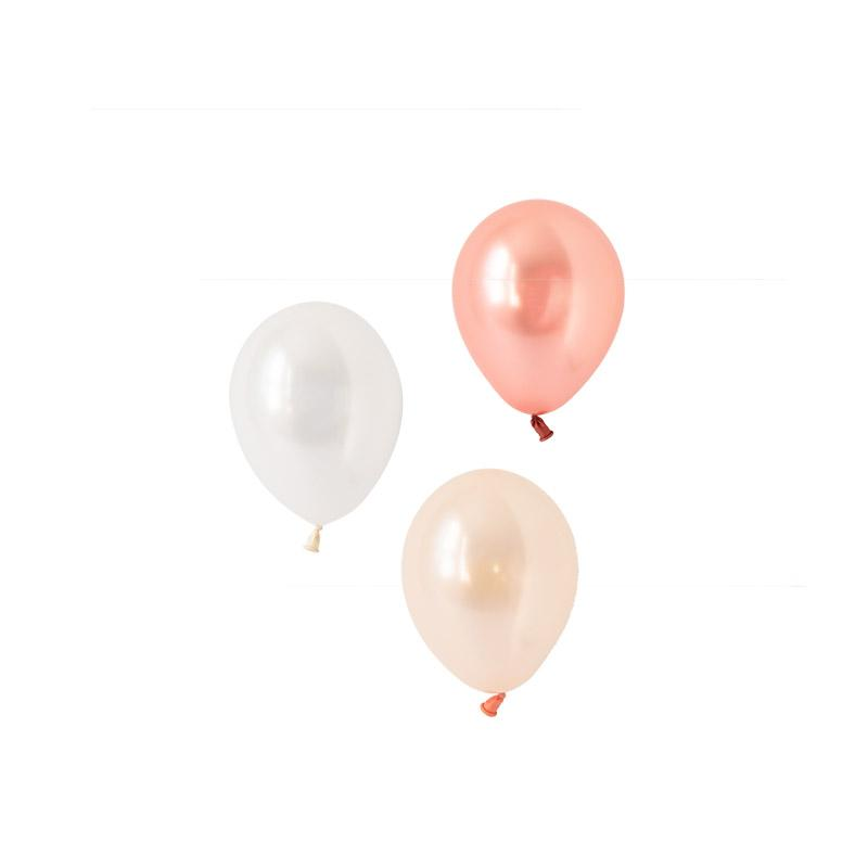 Everything's Rosy Gold Mini Balloon Mix (pack of 12)  Mini Latex Balloon Collections Hello Party Essentials - Hello Party