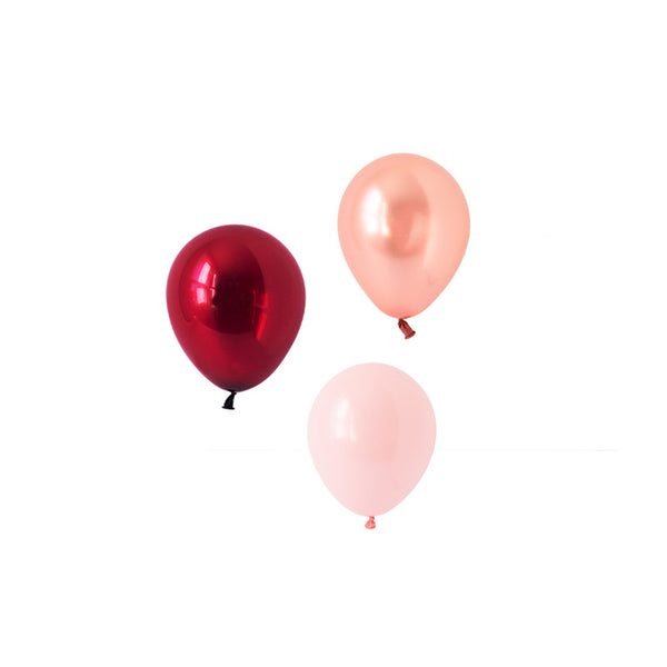 Burgundy Dreams Mini Balloon Mix (pack of 12)  Mini Latex Balloon Collections Hello Party Essentials - Hello Party