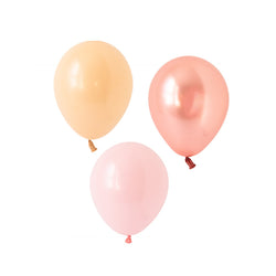 Blushing Rose Gold Mix Balloons (pack of 12)  Latex Balloon Collections Hello Party Essentials - Hello Party