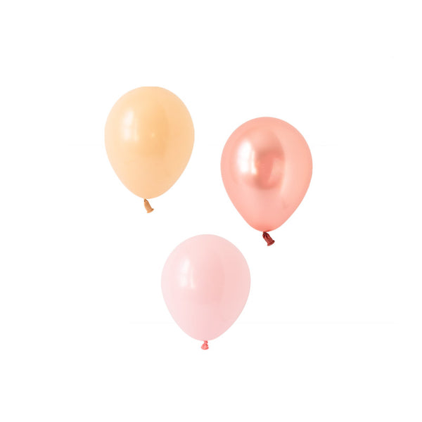 Blushing Rose Gold Mini Balloon Mix (pack of 12)  Mini Latex Balloon Collections Hello Party Essentials - Hello Party