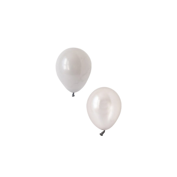 Sterling Silver Mini Balloon Mix (pack of 12)  Mini Latex Balloon Collections Hello Party Essentials - Hello Party