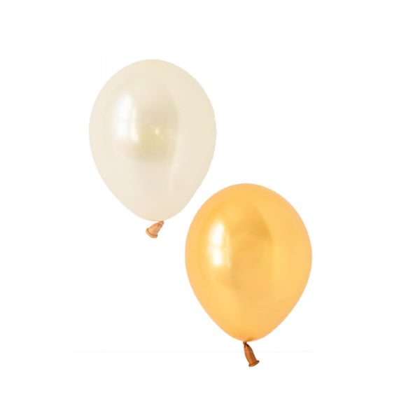 Glamorous Gold Mix Balloons (pack of 12)  Latex Balloon Collections Hello Party Essentials - Hello Party
