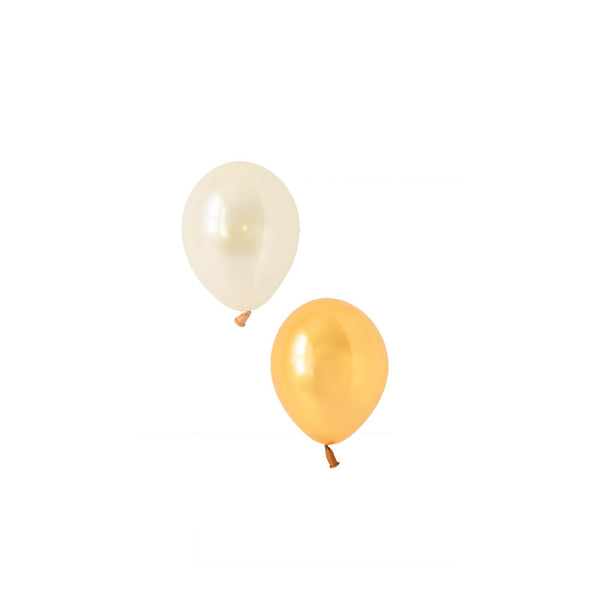 Glamorous Gold Mini Balloon Mix (pack of 12)  Mini Latex Balloon Collections Hello Party Essentials - Hello Party