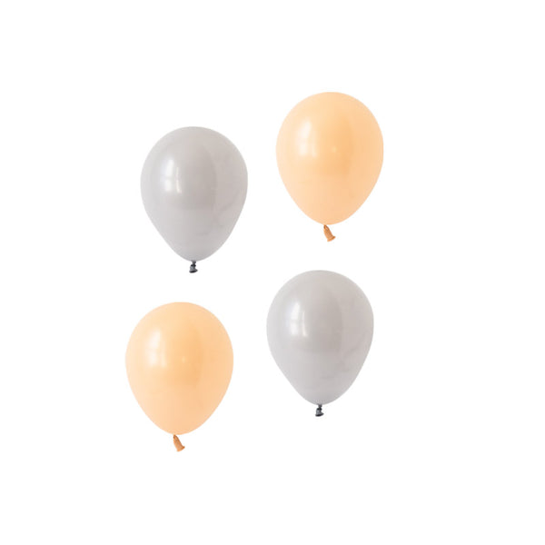 Blush & Grey Mini Balloon Mix (pack of 12)  Mini Latex Balloon Collections Hello Party Essentials - Hello Party