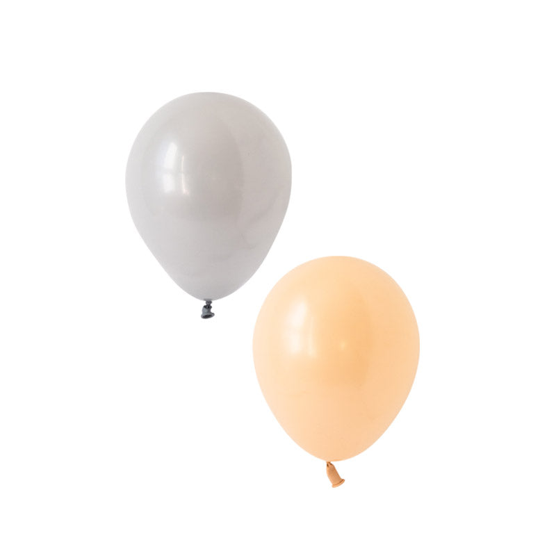 Blush & Grey Mix Balloons  Latex Balloon Collections Hello Party Essentials - Hello Party
