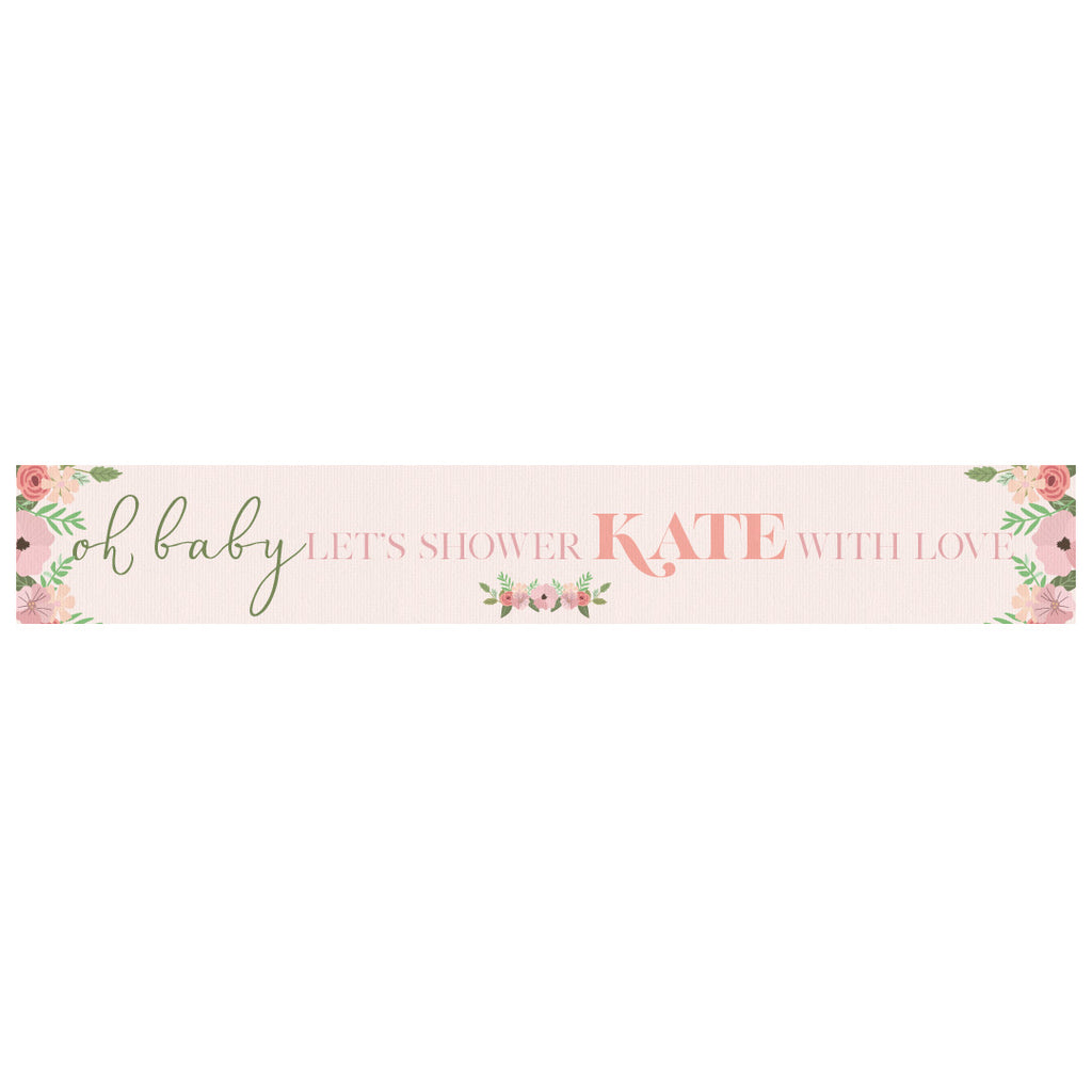 Oh Baby Baby Shower Personalised Banner Stylish Party Decorations
