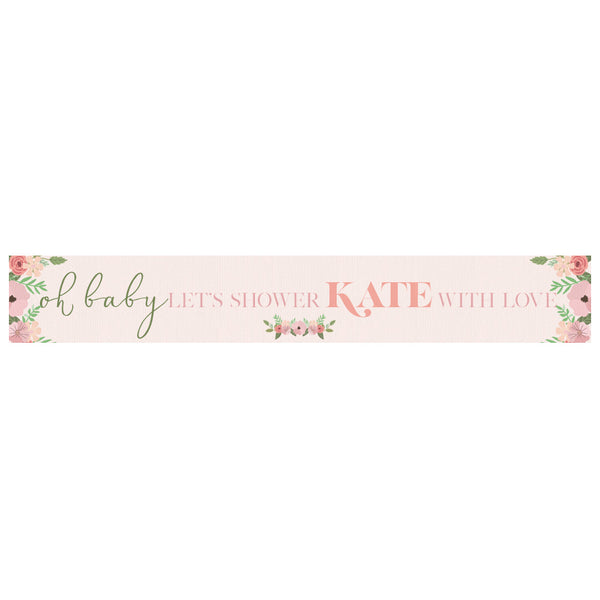 Oh Baby! Baby Shower Personalised Banner with a space for a name