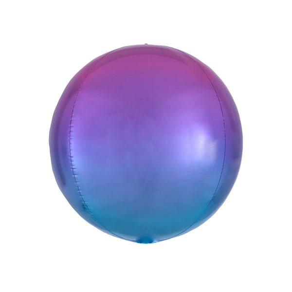 Purple to Blue Ombré Orbz Balloon  orb balloon Anagram - Hello Party