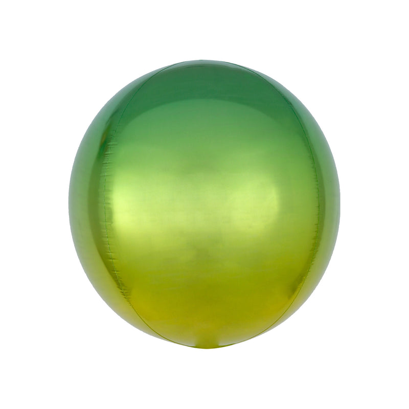 Green to Yellow Ombré Orbz Balloon  orb balloon Anagram - Hello Party