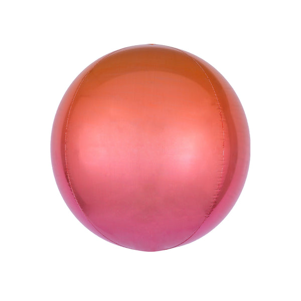 Red to Orange Ombré Orbz Balloon  orb balloon Anagram - Hello Party