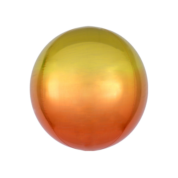 Yellow to Orange Ombré Orbz Balloon  orb balloon Anagram - Hello Party