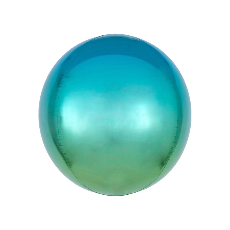 Blue to Green Ombré Orbz Balloon  orb balloon Anagram - Hello Party