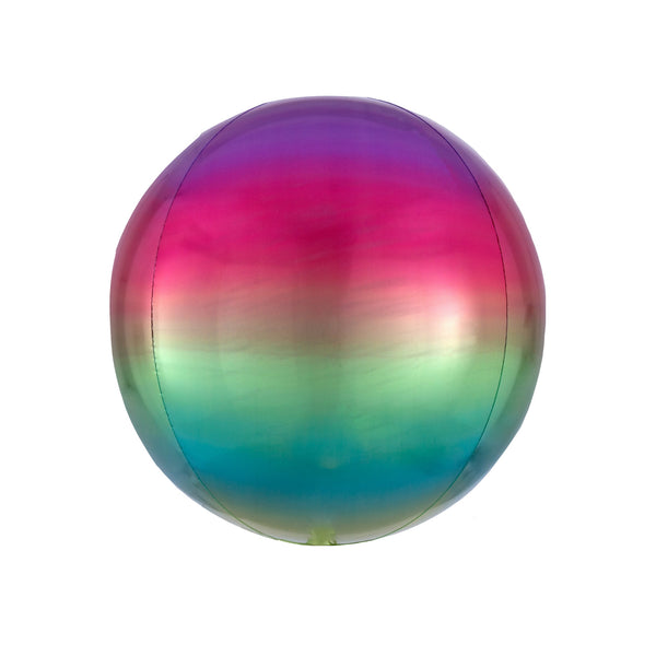 Rainbow Ombré Orbz Balloon  orb balloon Anagram - Hello Party