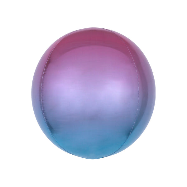 Pink to Blue Ombré Orbz Balloon