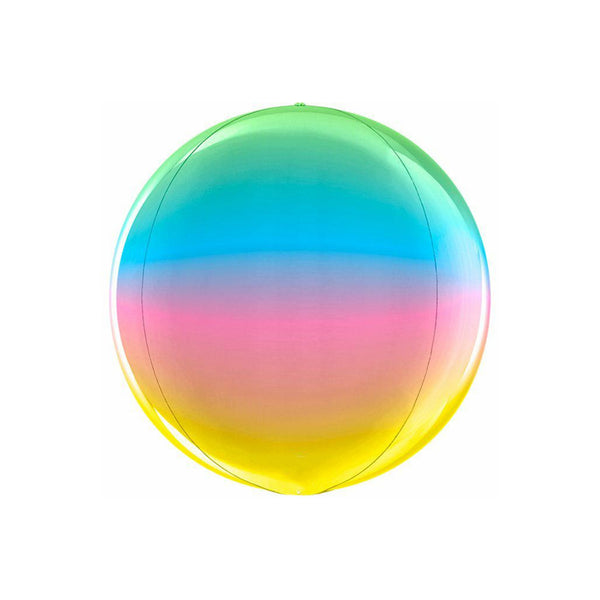 Rainbow Globe Balloon  orb balloon Grabo Balloons - Hello Party