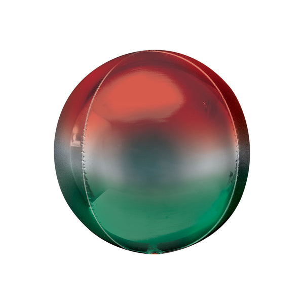 Red to Green Ombré Orbz Balloon