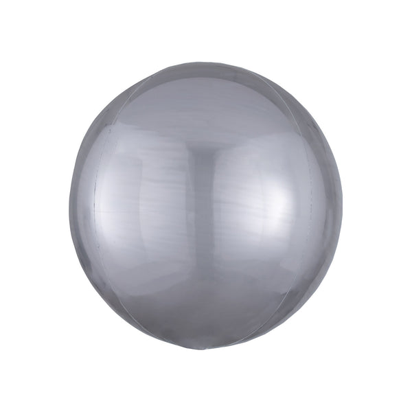 "Silver Orbz Balloon (16"")  orb balloon Anagram - Hello Party"