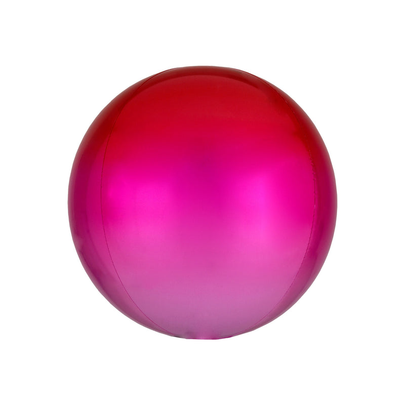 Red to Pink Ombré Orbz Balloon  orb balloon Anagram - Hello Party