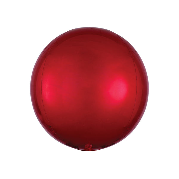 "Red Orbz Balloon (16"")  orb balloon Anagram - Hello Party"