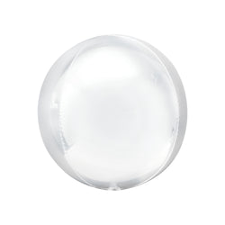 White Orbz Balloon  orb balloon Anagram - Hello Party