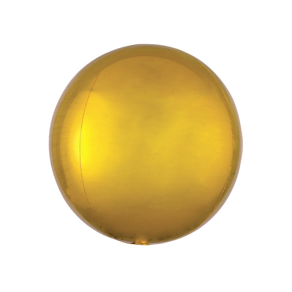 "Gold Orbz Balloon (16"")  orb balloon Anagram - Hello Party"
