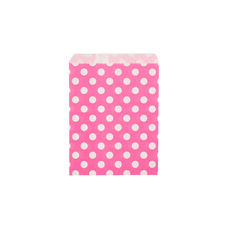 Pink polka dot paper party bags  Party Bags Hello Party Essentials - Hello Party