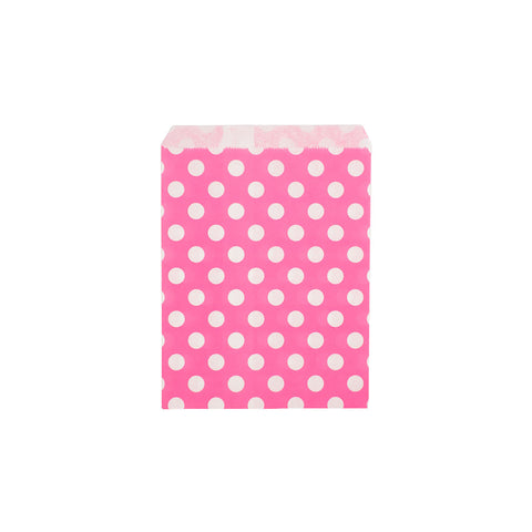 Pink polka dot paper party bags