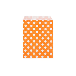 Orange polka dot paper party bags  Party Bags Hello Party Essentials - Hello Party