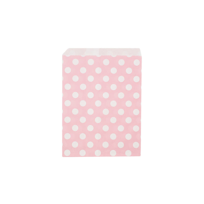 Light pink polka dot paper party bags  Party Bags Hello Party Essentials - Hello Party