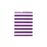 Purple sailor stripe paper party bags