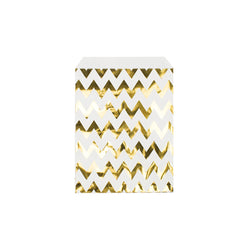 Shiny gold chevron paper party bags  Party Bags Hello Party Essentials - Hello Party