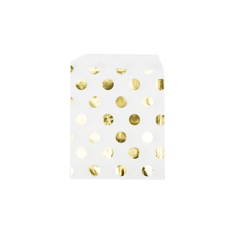 Shiny gold polka dot paper party bags  Party Bags Hello Party Essentials - Hello Party