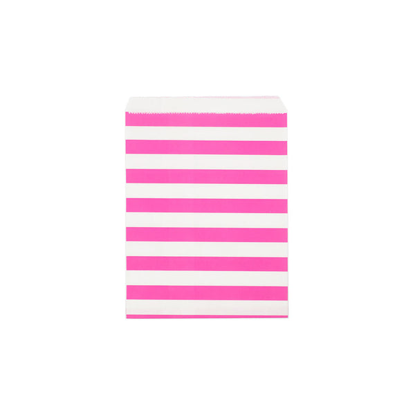 Pink sailor stripe paper party bags