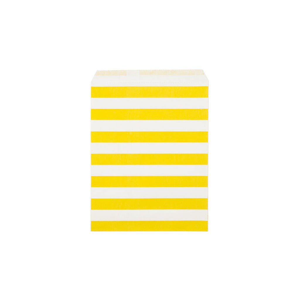 Yellow sailor stripe paper party bags