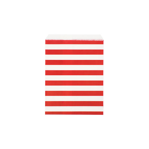 Red sailor stripe paper party bags