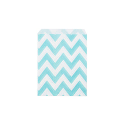 Light blue chevron paper party bags  Party Bags Hello Party Essentials - Hello Party