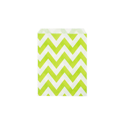 Lime green chevron paper party bags  Party Bags Hello Party Essentials - Hello Party