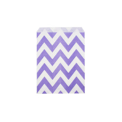 Purple chevron paper party bags  Party Bags Hello Party Essentials - Hello Party