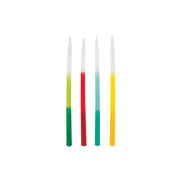 Tall Rainbow Ombre Birthday Cake Candles