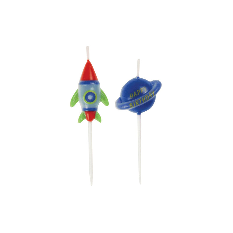 Outer Space Planets & Rockets Birthday Cake Candles