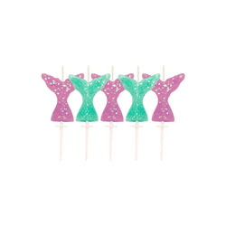 Glitter Mermaid Tail Cake Candles