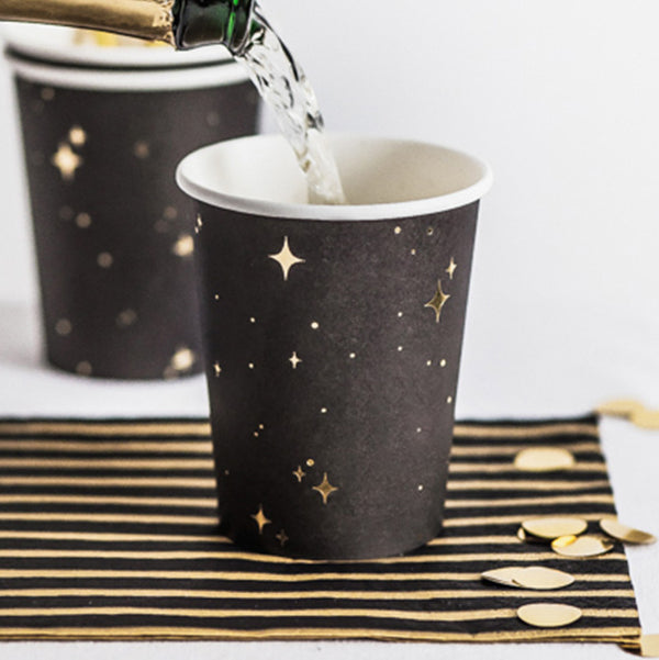 Golden Midnight Paper Cups
