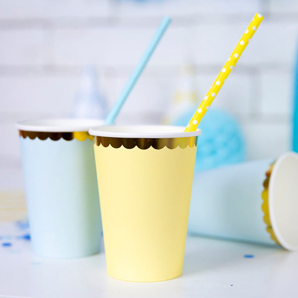 Pretty Pastels Yellow Paper Cups  Party Cups Party Deco - Hello Party