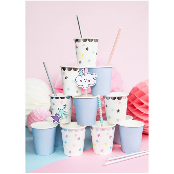 Iridescent Paper Straws  Paper Straws Party Deco - Hello Party