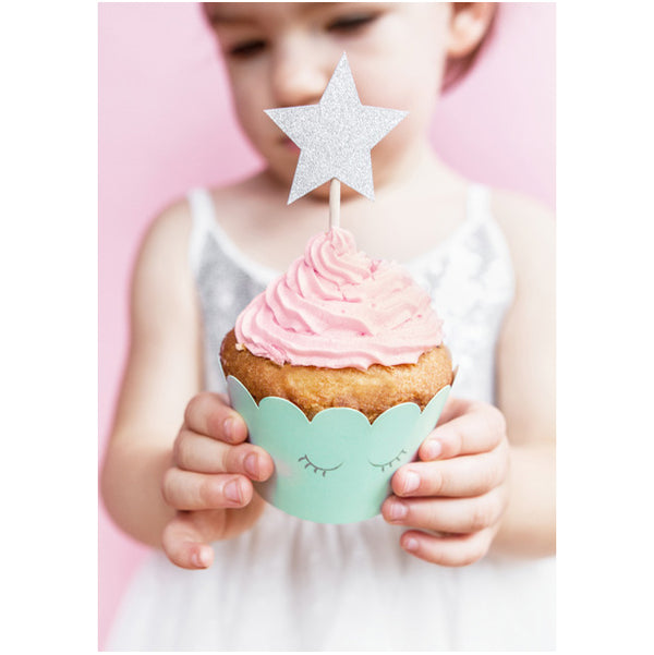 Pretty Star Party Cupcake Toppers
