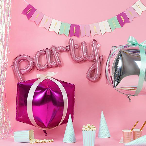 Party Script Pink Foil Balloon  Script Foil Balloons Party Deco - Hello Party