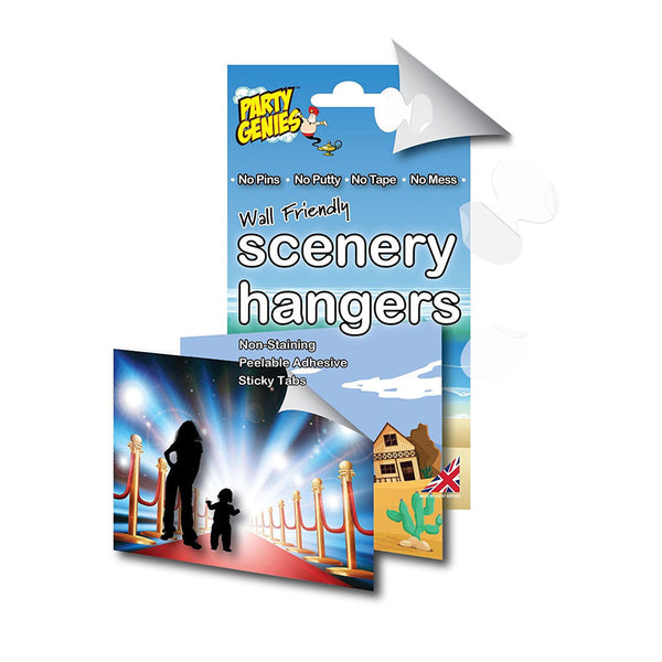 Wall Friendly Scenery Hangers  Sticky Stuff Hello Party Essentials - Hello Party